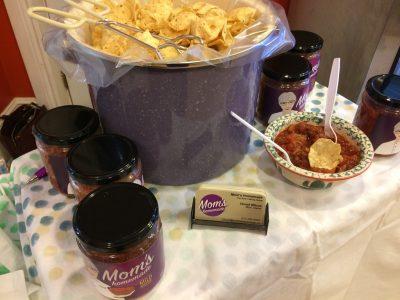 IMAGE: Mom's Homemade Salsa sampling table at Mrs. McGarrigle's in Merrickville..