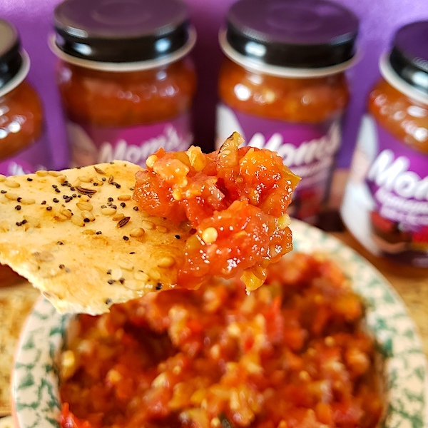 IMAGE: Mom's Wrath salsa will spice up your nacho chips (or anything else you want to eat it with).