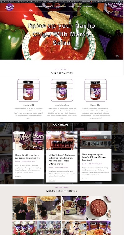 IMAGE: IMAGE: The new website for Mom's Homemade style salsas, momshomemade.ca